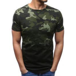 BASIC Zelené tričko ve vojenském stylu (rx2721) velikost: M, odstíny barev: zelená