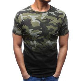 BASIC Zelené tričko ve vojenském stylu (rx2723) velikost: M, odstíny barev: zelená