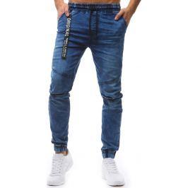 BASIC Pánské modré jogger kalhoty (ux1241) velikost: XL, odstíny barev: modrá