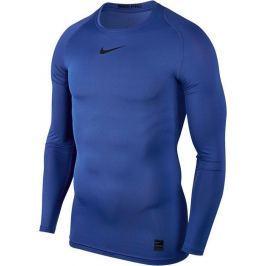 Nike Modré funkční tričko (838077-480) velikost: M, odstíny barev: modrá