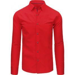 BASIC Elegantní červená košile (dx1492) velikost: M, odstíny barev: červená