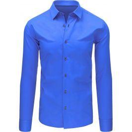 BASIC Elegantní modrá košile (dx1493) velikost: M, odstíny barev: modrá