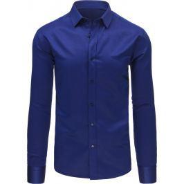 BASIC Elegantní modrá košile (dx1494) velikost: M, odstíny barev: modrá