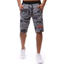 BASIC Šedé šortky v camo stylu  (sx0594) velikost: M, odstíny barev: šedá