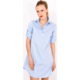 Dlouhá modrá oversize tunika (85054-21) velikost: M, odstíny barev: modrá
