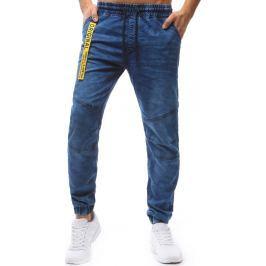 BASIC Pánské Jogger Denim Look kalhoty (ux1243) velikost: M, odstíny barev: modrá