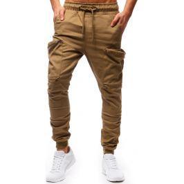 BASIC Pánské béžové kalhoty (ux1251) velikost: S, odstíny barev: béžová