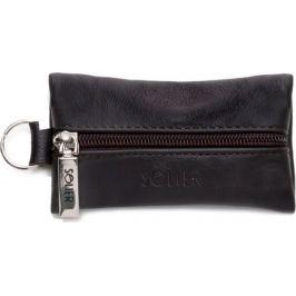Elegantní pánská kapsička na klíče značky SOLIER (SA18 BROWN) Velikost: univerzální