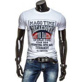 BASIC Pánské bílé tričko (rx1328) velikost: 2XL, odstíny barev: bílá