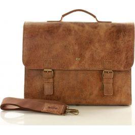 Pánský hnědý kufřík JAZZY WANTED (dg79a) velikost: univerzální, odstíny barev: hnědá