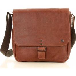 Pánská hnědá crossbody taška (dg90a) velikost: univerzální, odstíny barev: hnědá