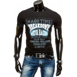 BASIC Pánské černé tričko (rx1329) velikost: 2XL, odstíny barev: černá