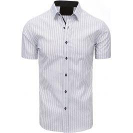 BASIC Pánská košile se vzory (kx0829) velikost: M, odstíny barev: bílá