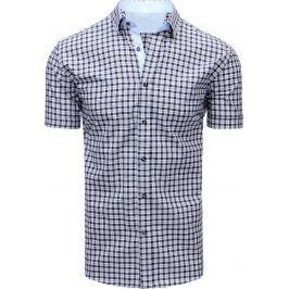 BASIC Modrá kostkovaná košile (kx0845) velikost: M, odstíny barev: modrá
