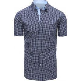 BASIC Modrá kostkovaná košile (kx0797) velikost: M, odstíny barev: modrá