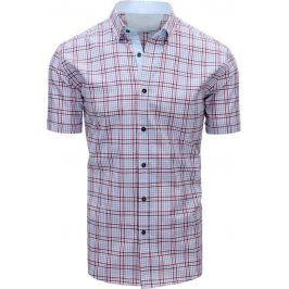 BASIC Červeno-modrá kostkovaná košile (kx0805) Velikost: M