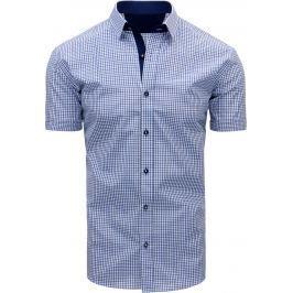 BASIC Modrá kostkovaná košile (kx0806) velikost: M, odstíny barev: modrá