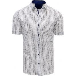 BASIC Bílá košile se vzorem (kx0807) velikost: M, odstíny barev: bílá