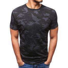 BASIC Pánské tričko v army stylu (rx2791) velikost: M, odstíny barev: černá