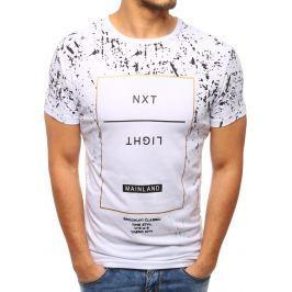 BASIC Bílé tričko s potiskem (rx2804) velikost: M, odstíny barev: bílá