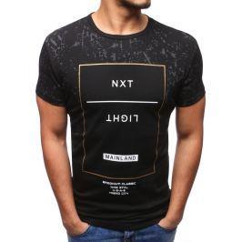 BASIC Černé tričko s potiskem (rx2806) velikost: XL, odstíny barev: černá