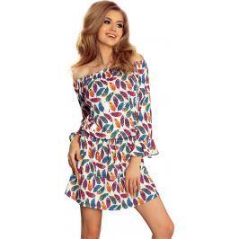 NUMOCO Exotické šaty JULIE 198-2 velikost: L, odstíny barev: barevná
