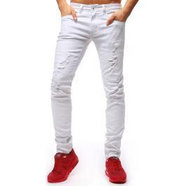 BASIC Pánské bílé džínové kalhoty (ux1259) velikost: 28, odstíny barev: bílá