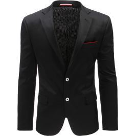 BASIC Černé sako s červenými detaily (mx0383) velikost: S, odstíny barev: černá