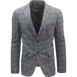 BASIC Šedé kostkované sako (mx0391) velikost: S, odstíny barev: šedá
