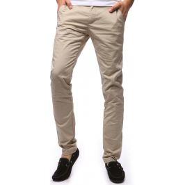 BASIC Pánské béžové kalhoty (ux1257) velikost: 29, odstíny barev: béžová