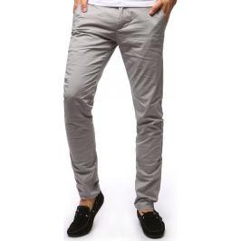 BASIC Pánské šedé kalhoty (ux1261) velikost: 29, odstíny barev: šedá