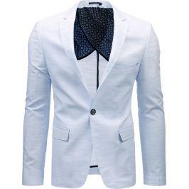 BASIC Pánské modré sako (mx0358) velikost: S, odstíny barev: bílá