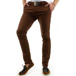 BASIC Pánské hnědé kalhoty (ux0557) velikost: 29, odstíny barev: hnědá