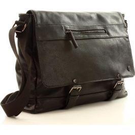 Pánská kožená taška přes rameno WALKY 2 (dg84a) velikost: univerzální, odstíny barev: černá