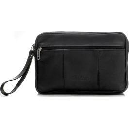 MILTON Černá kožená taška na doklady  (ML29 BLACK) Velikost: univerzální