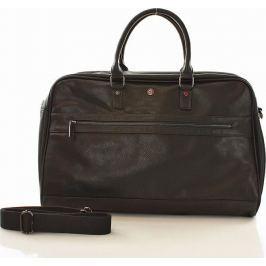 Pánská cestovní kožená taška WALKY 3 (dg85a) velikost: univerzální, odstíny barev: hnědá
