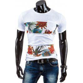 BASIC Pánské tričko s krátkým rukávem (rx1427) velikost: 2XL, odstíny barev: bílá