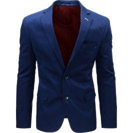 BASIC Modré příležitostní elegantní sako  (mx0387) velikost: S, odstíny barev: modrá