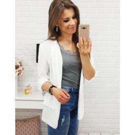 BASIC Dámské elegantní sako SIMPLE WHITE (ry0398) velikost: univerzální, odstíny barev: bílá