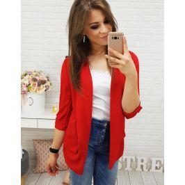 BASIC Dámské elegantní sako SIMPLE RED (ry0399) velikost: univerzální, odstíny barev: červená