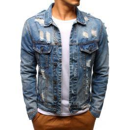 BASIC Pánská džínová bunda (tx2188) velikost: S, odstíny barev: modrá