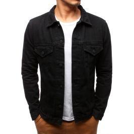 BASIC Pánská černá džínová bunda (tx2191) velikost: S, odstíny barev: černá