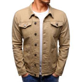 BASIC Pánská béžová džínová bunda  (tx2193) Velikost: S