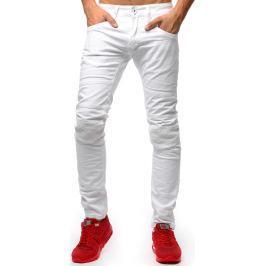 BASIC Pánské bílé džíny (ux1266) velikost: 29, odstíny barev: bílá