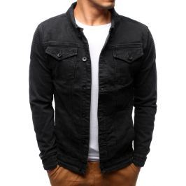 BASIC Pánská černá džínová bunda (tx2197) velikost: S, odstíny barev: černá
