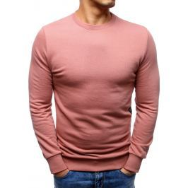 BASIC Pánská růžová  mikina  (bx3508) velikost: S, odstíny barev: růžová