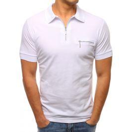 BASIC Pánské bílé tričko (px0137) velikost: M, odstíny barev: bílá