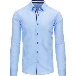 BASIC Pánská modrá košile (dx1066) velikost: XL, odstíny barev: modrá