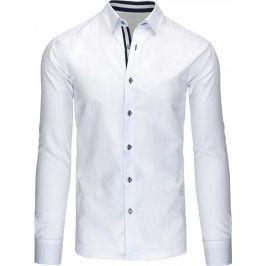 BASIC Pánská bílá košile (dx1072) velikost: XL, odstíny barev: bílá