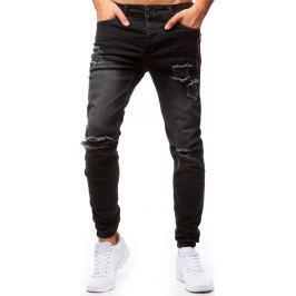 BASIC Pánské černé jogger džíny (ux1273) velikost: 30, odstíny barev: černá
